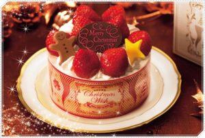 クリスマスウィッシュ いちごのショートケーキ 4号